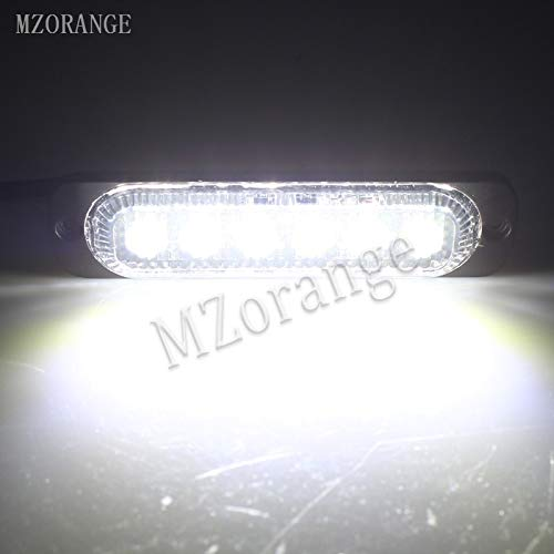 Generic MZORANGE 12V-24V 19 Patterns Led Strobe Warning Light Strobe Grille Flashing Lightbar Truck Car Beacon Lamp Amber Traffic light Emitting Color White Color Temperature 2 Pieces