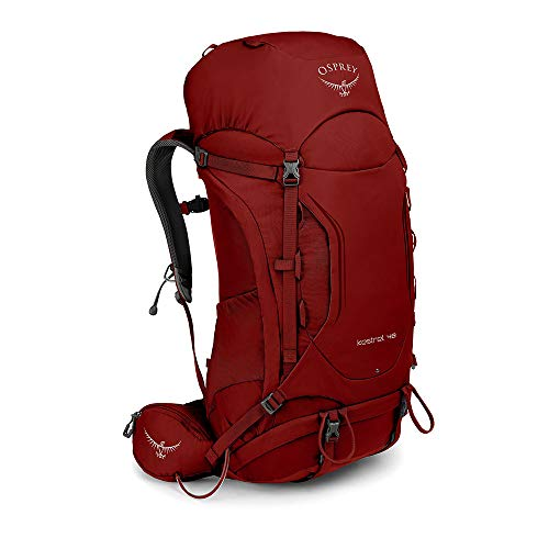 Osprey Kestrel 48 Mens Hiking Pack - Rogue Red (S/M)