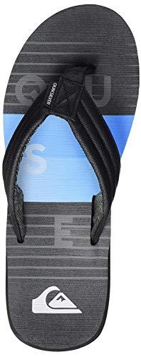 Quiksilver Carver Print, Zapatos de Playa y Piscina para Hombre, Negro (Black/Black/Blue Xkkb), 39 EU