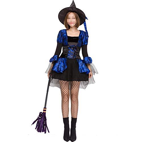 Halloween-kostuum, Halloween-cosplay kostuum Halloween Cosplay horror kostuum, Halloween heks cosplay vrouwelijke heksen rollenspel pak temperament heksenkostuum