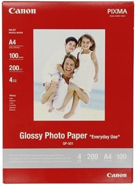Canon GP-501 Papel Fotográfico A4 con Brillo (100 hojas 200g/m2)