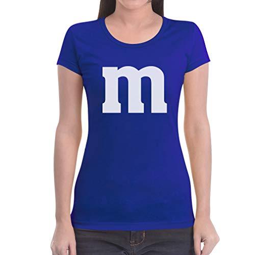 Süßes Outfit m Damen Karneval Fasching JGA Gruppen-Kostüme Frauen T-Shirt Slim Fit Medium Blau