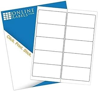 4 x 2 Mailing Labels - Pack of 1,000 Labels, 100 Sheets - Inkjet/Laser Printer - Online Labels