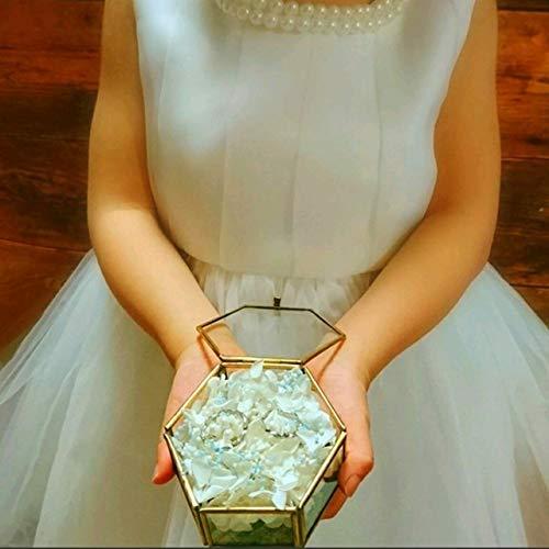 Lulu'sルルズリングピローJuno~ユノ~あじさいとかすみそうのリングピロー六角ガラスケースプリザーブドフラワーウェディングブライダル結婚指輪サイズ:横8cm縦7cm高さ3.7cmJuno~ユノ~Lulu's-1204