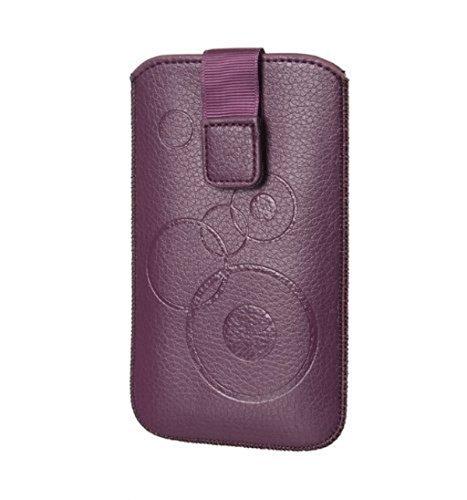 Handytasche Circle u.a. für Nokia 100, Nokia 106, Nokia 108 Dual SIM, Nokia 112 Tasche Schutz Hülle Slim Hülle Cover Etui violett mit Klettverschluss