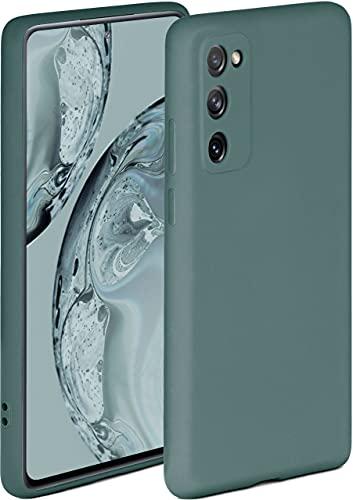 ONEFLOW Soft Hülle kompatibel mit Samsung Galaxy S20 FE/FE 5G Hülle aus Silikon, erhöhte Kante für Displayschutz, zweilagig, weiche Handyhülle - matt Petrol
