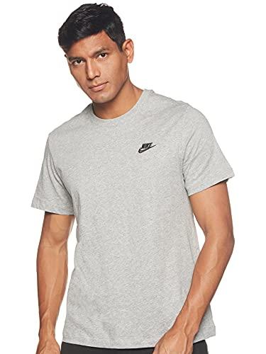 Nike Herren M NSW Club Tee T-Shirt, dk Grey Heather/(Black), M