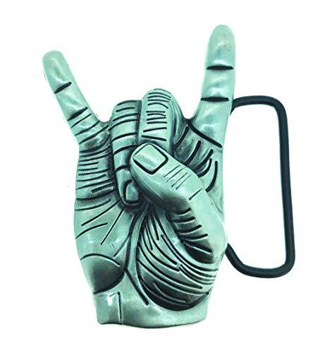 Gemelolandia Hebilla de Cinturón Saludo Heavy Metal | Complementos de Moda Unisex Para Hombres y Mujeres Exclusivos y Atemporales | Accesorios Para Regalos Originales