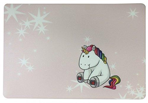 Schreibtischunterlage Einhorn rosa mit Sternen weiß 40 x 60 cm abwischbar