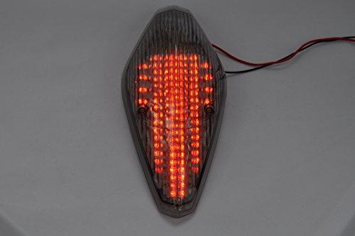 Topzone lighting Feu arrière LED Clear Lens pour moto - Avec clignotants intégrés - Pour Honda VTX 1300/1800 RETRO/1800T