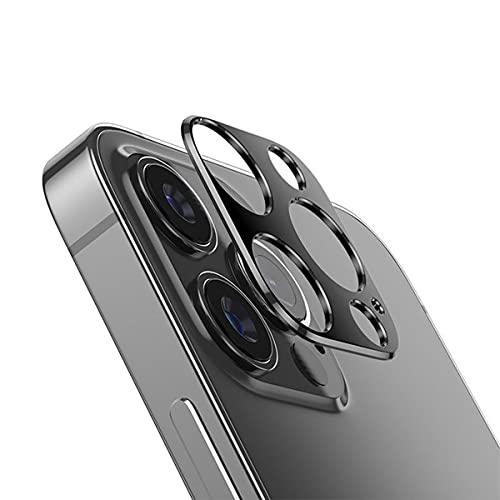 Brandtrendy Mica Cristal Templado 9H para Lente cámara Compatible con iPhone 12 Pro MAX (Grafito)