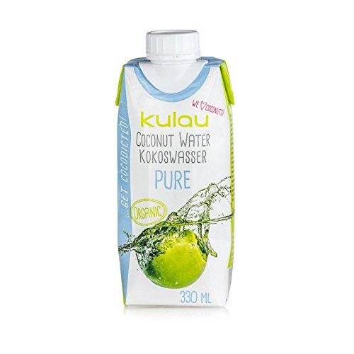 Kulau Bio Kokoswasser Pure 330 ml 100% pures Kokosnusswasser ohne Zucker und Zusatzstoffe, 12er Pack