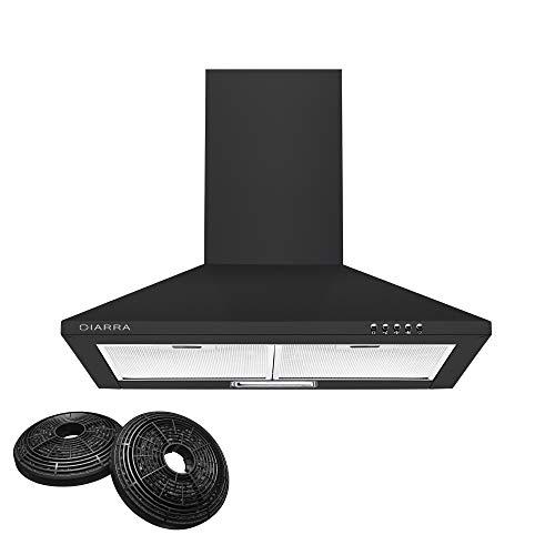 CIARRA CBCB6201 60cm Chimney Cooker Hood 600mm Kitchen Range Hoods LED Bulbs Recirculating & Ducting...