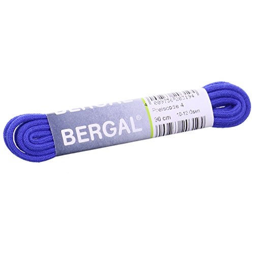 1 Paar Bergal Schnürsenkel royal blau - rund - dünn - Ø 2,5 mm (90 cm)