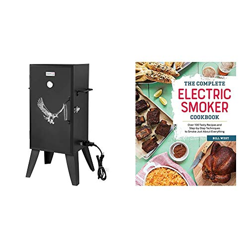 Royal Gourmet SE2801 Electric Smoker, Black & The Complete Electric Smoker Cookbook: Over 100 Tasty Recipes and Step-by-Step Techniques to Smoke Just About Everything