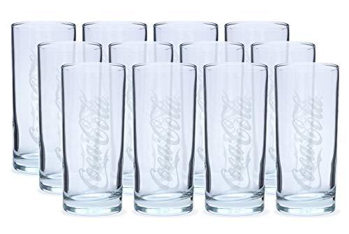 12 Stück Coca-Cola Longdrink Gläser 0,3l - mit Füllstrich für Gastronomie