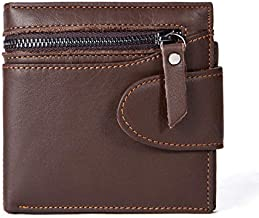 C-Xka Business Pure Leather Tide Brand Leather Wallet First Layer Leather Short Bifold Wallet Purse For Mens