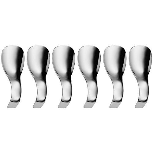 WMF Nuova Häppchenlöffel Set, 6-teilig, Gourmetlöffel, Präsentierlöffel, spülmaschinengeeignet, L 13 cm, Cromargan Edelstahl poliert