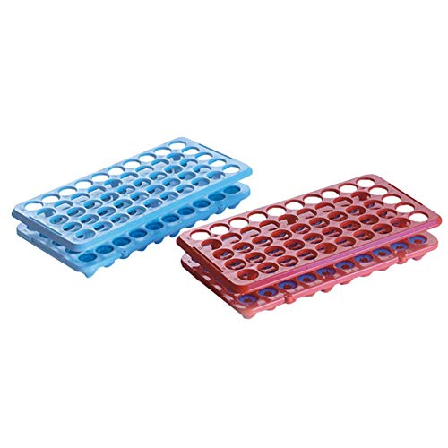 Tansoole - Mit Silikonunterlage Reagenzglasständer Reagenzglashalter Labor-Gefäßständer, 50-Loch Ø18mm