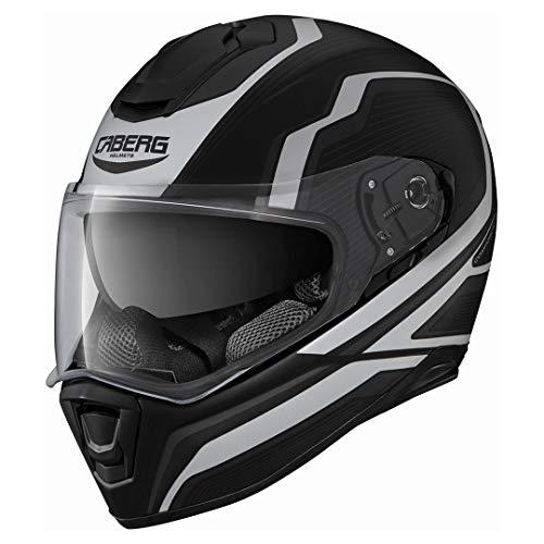 Caberg DRIFT Flux Matt Integral Helm Motorrad Nacken Schutz, C2LC00D0, Schwarz Weiß, Größe S (55/56 cm)