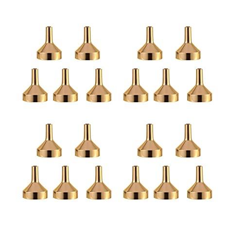 LDDJ Embudo 10 Piezas de embudos para llenar Botellas pequeñas Transferencia de Aceite líquido Perfume DE Perfume Esencial Durable