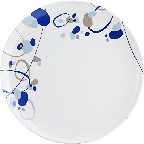 Brookstone Patterned Side Plate (7.8in) (White/Blue)