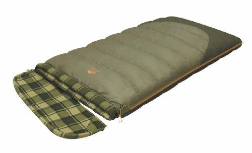ALEXIKA Camping & Outdoor Schlafsack Siberia Wide Transformer, rechte Reißverschluss Deckenschlafsacke, grün-grau/kariertes grün-grau, 230 x 100 cm