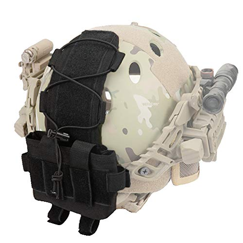 Tactical Helmet Battery Pouch, MK2 Fast Helmet NVG Battery Pack Case Contrapeso Bolsa Balance Weight Bag con Hook N Loop para Hunting Airsoft