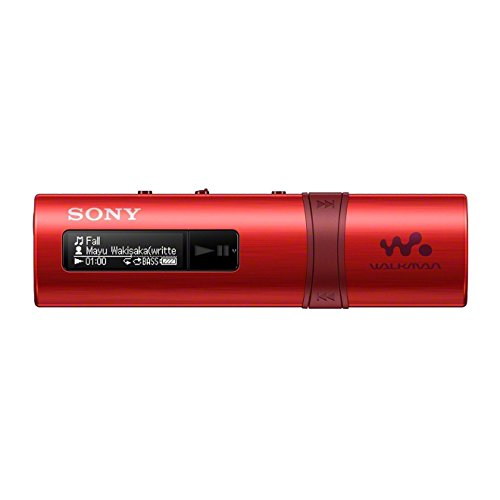 Sony NWZ-B183 - Lettore musicale Walkman 4GB, Bass Boost, QuickCharge, Rosso