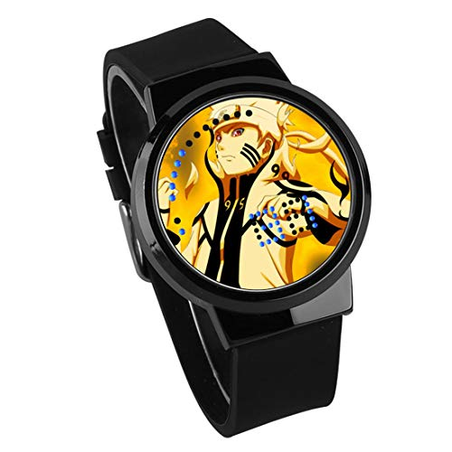 Fashion Anime Watch Naruto Peripheral Touch Screen LED Waterproof Watch,Black