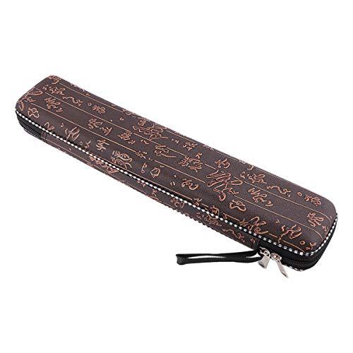 VALICLUD Bambusflöte Geschenk Dizi Box Holz Traditionelle Chinesische Instrumentenkoffer Leere Stoßfeste Aufbewahrungsbox für Professionelle Spieler (Kaffee)
