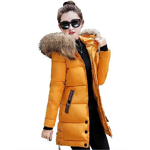 Winterjas Vrouwen Big Fur Hooded Parka lange jas gewatteerde dames wintermantel vrouwen warm verdikken