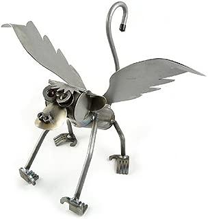 Yardbirds Flying Monkey - American Made Recycled Metal Garden Sculpture (Indoor/Outdoor)