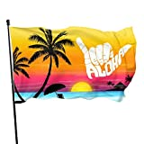 LUENSRO Aloha Hand Hawaii Symbol Flag - Brass Grommets Vivid Color 3x5 Feet Home Decoration,Garden Decoration,Outdoor Decoration,Holiday Decoration,Farm Decoration,Anniversary Decoration