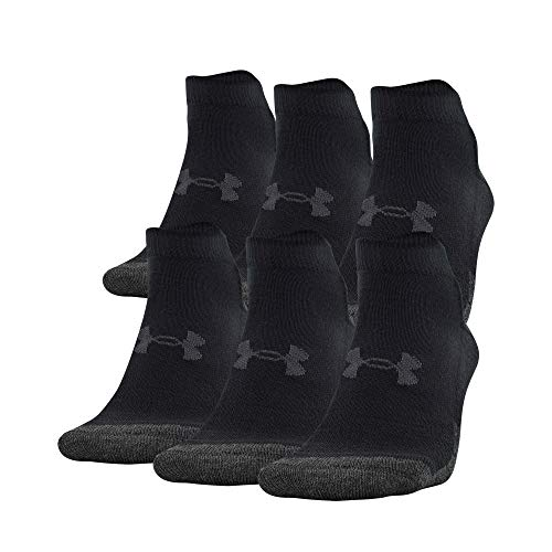 Under Armour Adult Performance Tech Low Cut Socks (3 and 6 Pack) , Black (6-Pairs) , Large