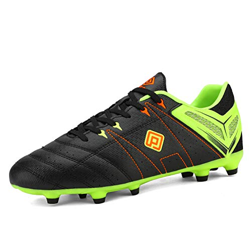DREAM PAIRS Men's 160471-M Black L.Green Red Cleats Football Soccer Shoes - 10 M US