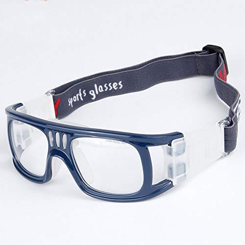 Clarashop Sportbrillen für Herren und Damen PC Basketball Fußball Schutzbrillen Anti-Fog-Over-The-Glasses Schützend für High Impact Sports Basketball