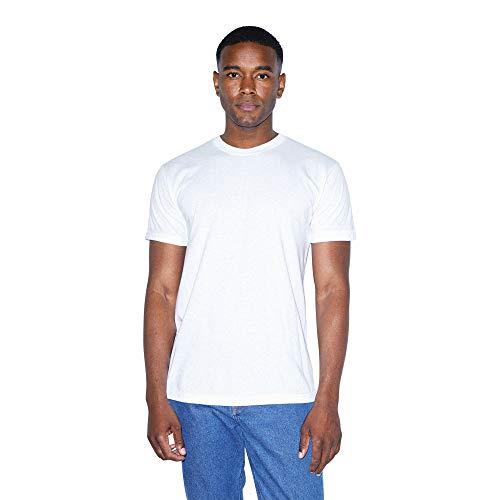 American Apparel mens 50/50 Crewneck Short Sleeve T-shirt - Usa Collection T Shirt, White, Medium US