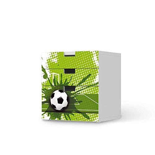 creatisto Möbeltattoo für Kinder - passend für IKEA Stuva Kommode - 3 Schubladen (Kombination 1) I Tolle Möbelaufkleber für Kinder-Zimmer Deko I Design: Goal