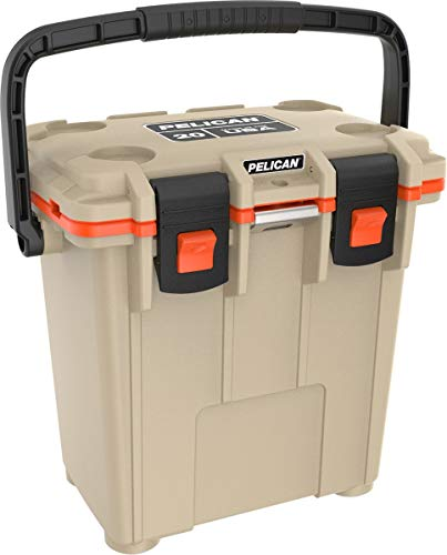 Pelican 20Q-2-TANORG Elite 20 Quart Cooler (Tan/Orange) (Renewed)