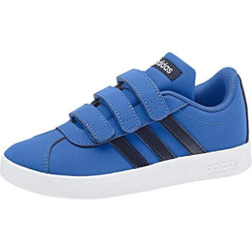 adidas VL Court 2.0 Cmf, Scarpe da Tennis Unisex-Bambini, Blu (Blue/Legink/Ftwwht Blue/Legink/Ftwwht), 25 EU
