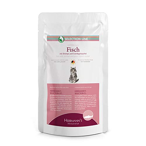 Herrmanns Katzenfutter Fisch mit Shrimps und Grünlippmuschel, 100 g