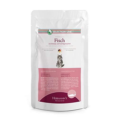 Herrmanns kattenvoer vis met Shrimps en groenlippschelp, 100 g