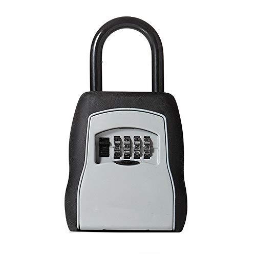 PQXOER-HO Sleutelslot Box Grijs Sleutelkluis Box Realtor Lock Box Set Uw Eigen Combinatie Draagbare Lock Box Voor Makelaars, Aannemers, Kinderen, Spare Sleuteldoos