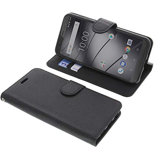 foto-kontor Tasche für Gigaset GS185 Book Style schwarz Schutz Hülle Buch