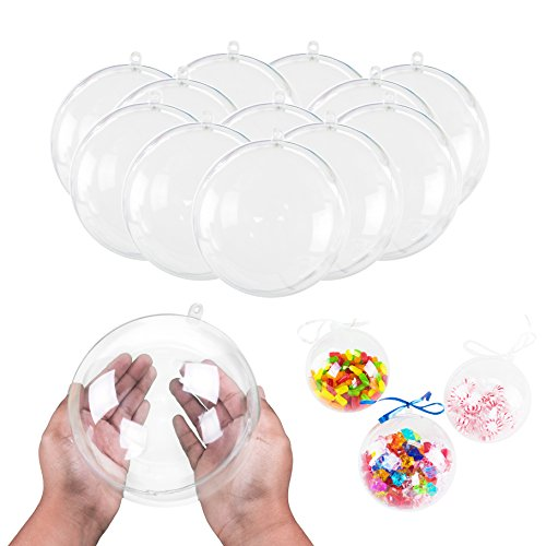 Super Z Outlet 5.5' Clear Big Plastic Acrylic Arts & Crafts Giant Mold Shells Molding Balls Crafting Kit (140mm) (12)