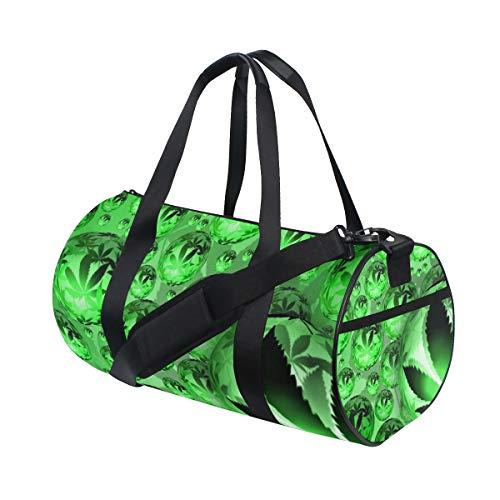 LUPINZ Pot Weed Snookie Orbe Cannabis Bolsa de Deporte de poliéster, Bolsa de Gimnasio, Fitness y Equipaje, para Mujer y Hombre, 18 x 9 x 9.5 Pulgadas