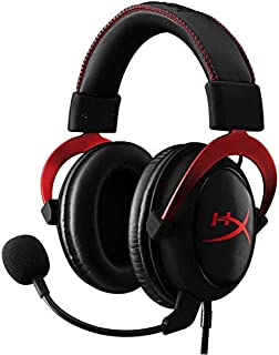HyperX Cloud II - Gaming Headset, 7.1 Surround Sound, Memory Foam Ear Pads, Durable Aluminum Frame, Detachable Microphone, Works with PC, PS4, Xbox One - Red