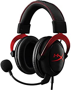 HyperX KHX-HSCP-RD Cloud II - Cascos de Gaming para PC/PS4/Mac, Negro/Rojo
