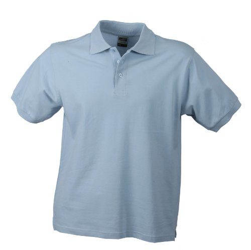 James & Nicholson Herren Poloshirt Classic Polo, Gr. Large, Blau (hellblau)